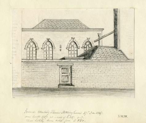 1737 Drawing of Spaniel Row meeting house