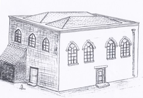 1737 A 3D drawing of how the Spaniel Row Meeting House might have looked.