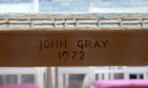 Meeting House table by John Gray